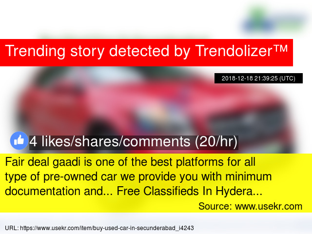 Fair deal gaadi is one of the best platforms for all type of