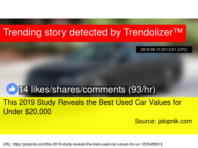 Used Car Values >> This 2019 Study Reveals The Best Used Car Values For Under