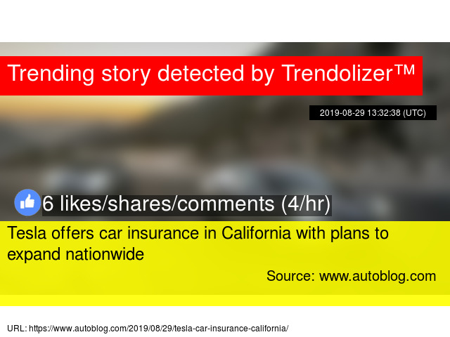 Tesla offers car insurance in California with plans to