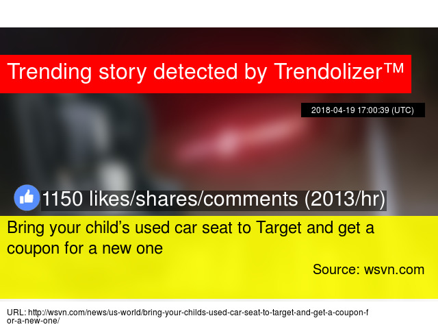 Bring Your Child8217s Used Car Seat To Target And Get A Coupon For New One