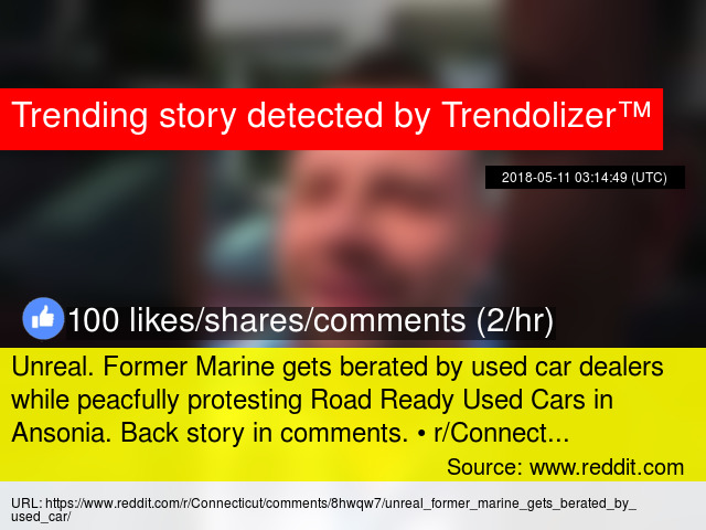 Unreal  Former Marine gets berated by used car dealers while